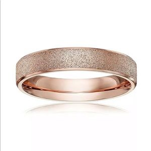 4mm Stainless Steel Frosted Ring Rose Gold 😍😍